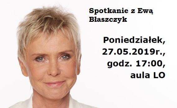 Spotkanie z Ewą Błaszczyk