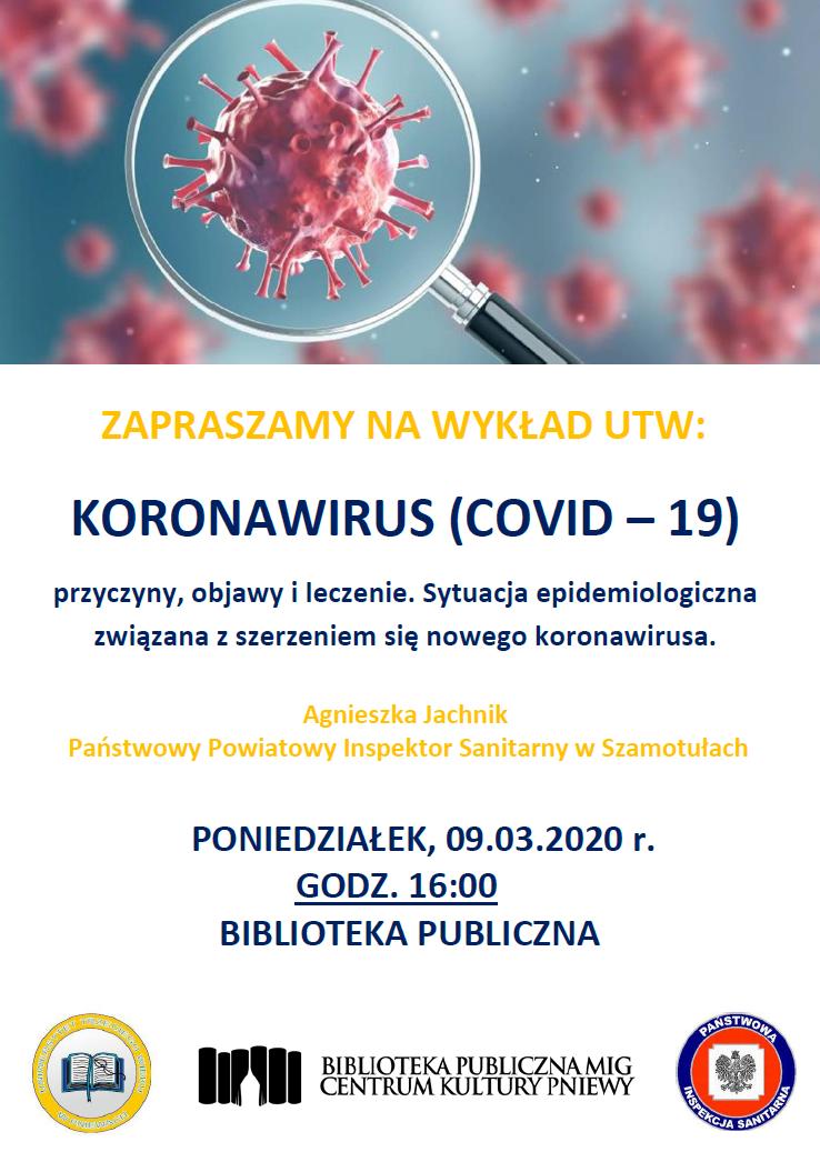 wykład  koronawirus